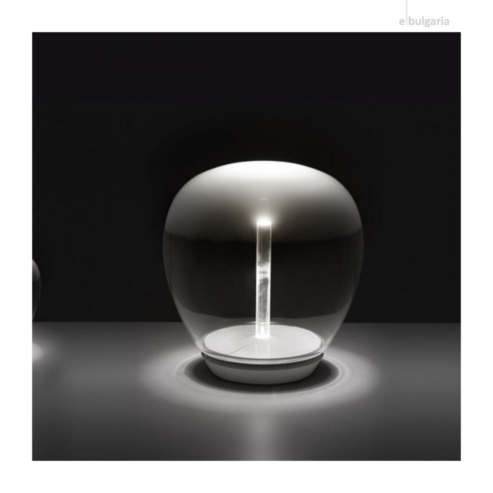 стъклена настолна лампа, white, artemide, empatia 26 table, led 1x20w, 3000k, 1710lm, 1817010a