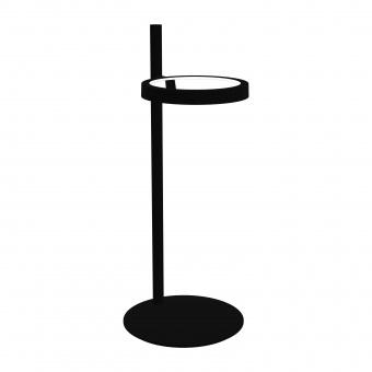 метална работна лампа, black, artemide, ipparco, led 1x7.8w, 3000k, 453lm, 1607010a