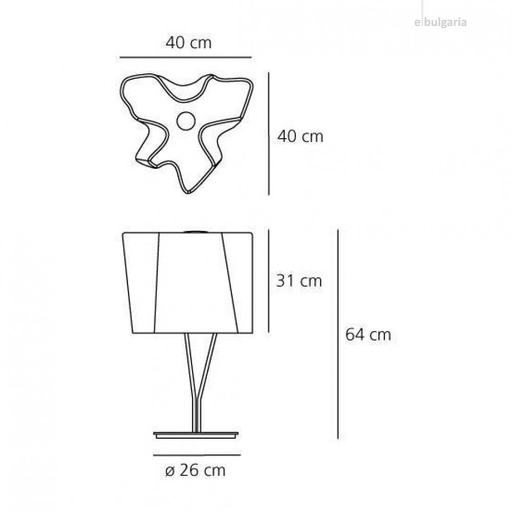 стъклена настолна лампа, fume, artemide, logico table, 3x46w, 0457110a