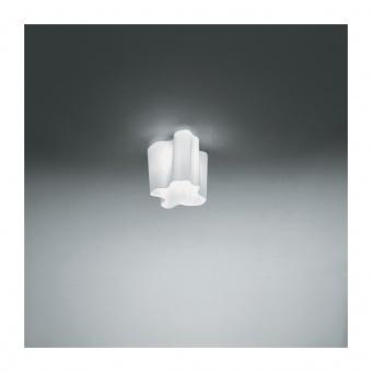 стъклен плафон, white , artemide, logico mini ceiling, 1x77w,  0692020a