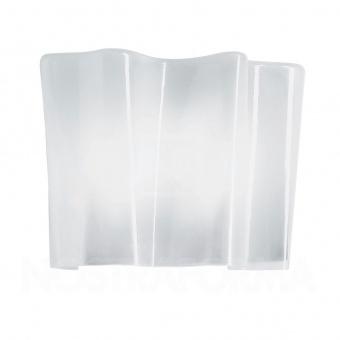 стъклен аплик, white, artemide, logicо wall, 2x57w, 0391030a