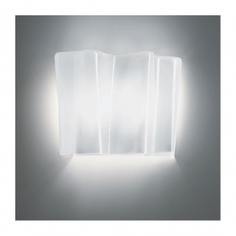 стъклен аплик, white, artemide, logicо mini wall, 1x57w, 0395030a