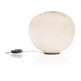 стъклена настолна лампа, white, artemide, meteorite 48 table, 1x150w, 1711010a