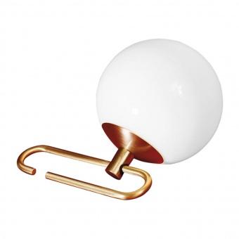 стъклена настолна лампа, brushed brass, artemide, nh 1217, 1x5w, 1217010a