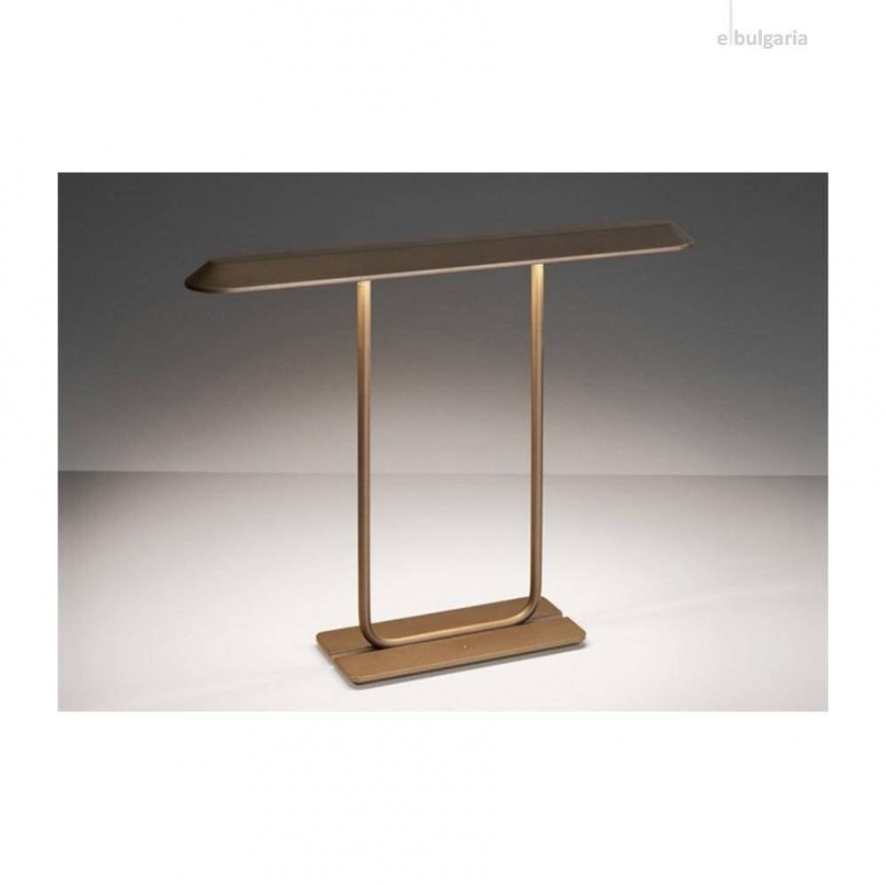 метална настолна лампа, bronze, artemide, tempio, 1x14w, 0052010a