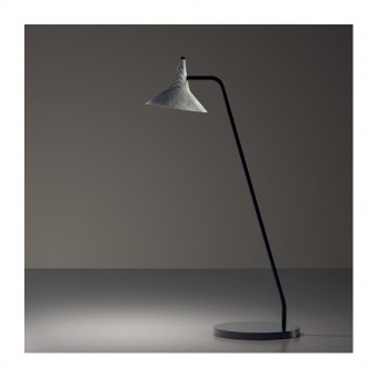 метална настолна лампа, aluminium, artemide, unterlinden table, led 1x6.2w, 3000k, 584lm, 1945010a