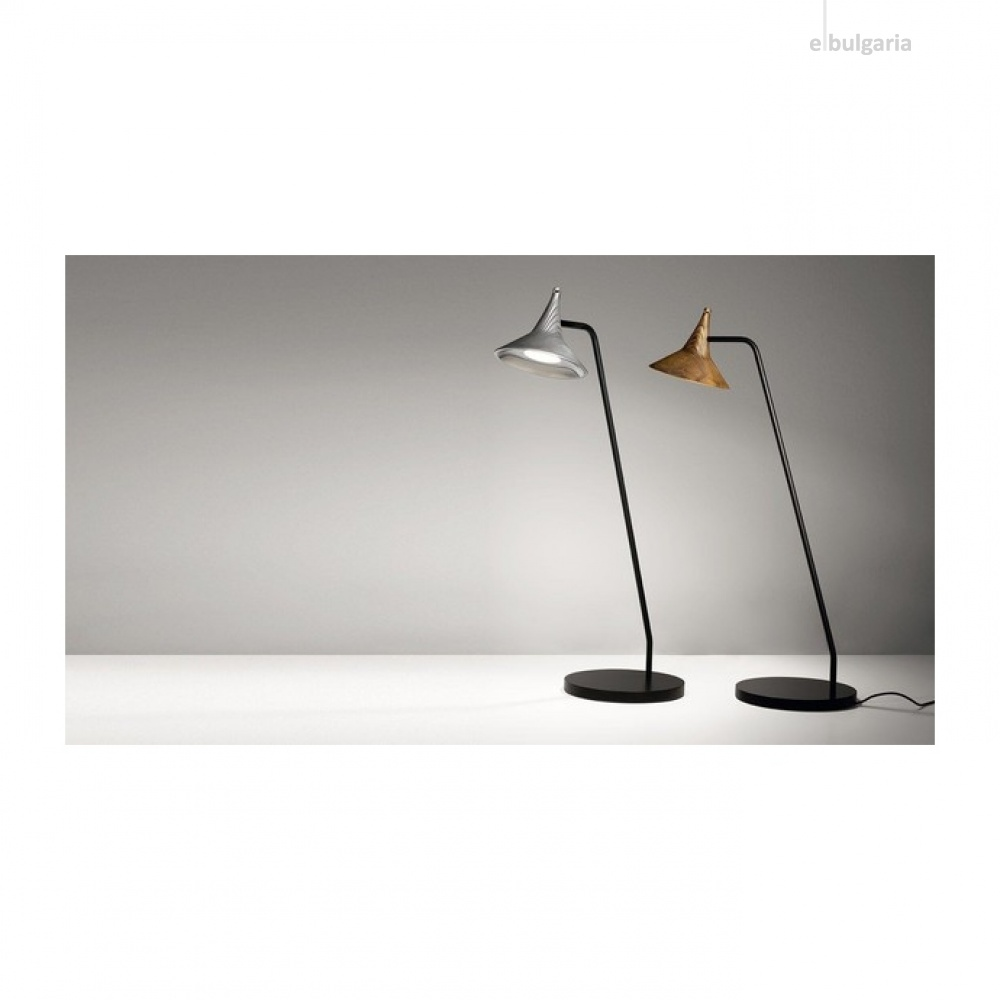 метална настолна лампа, brass, artemide, unterlinden table, led 1x6.2w, 3000k, 584lm, 1946010a
