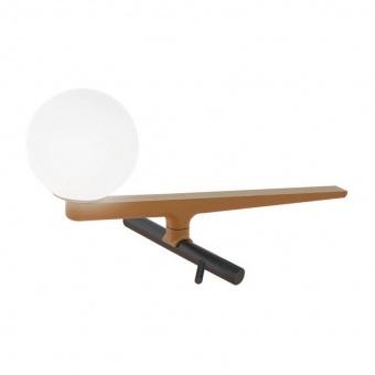 метална настолна лампа, brass, artemide, yanzi table, led 1x6.7w, 3000k, 757lm, 1101010a