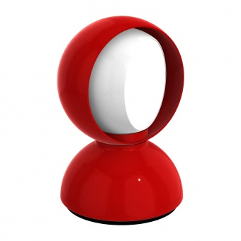 метална настолна лампа, red, artemide, eclisse, 1x25w, 0028030a