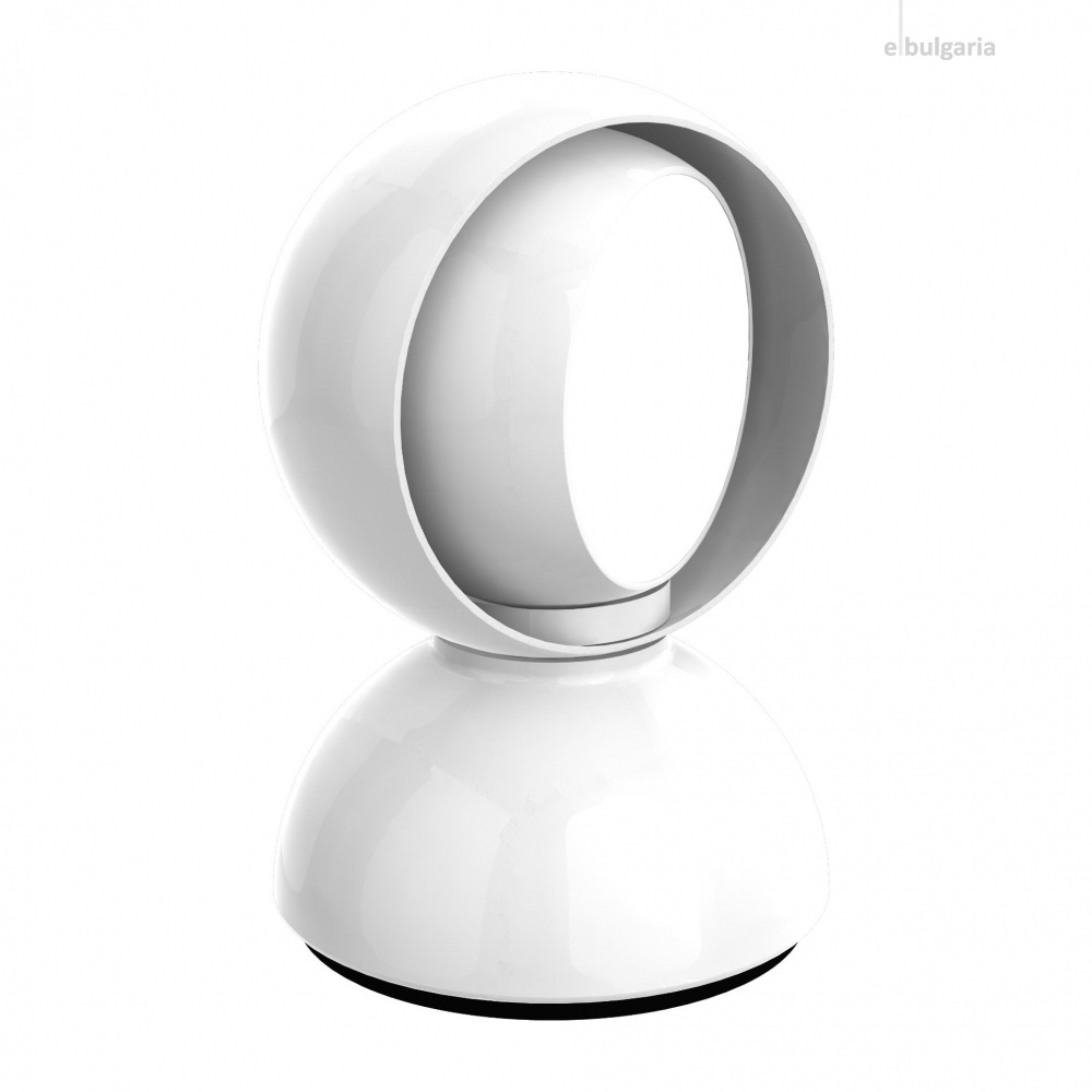 метална настолна лампа, white, artemide, eclisse, 1x25w, 0028010a
