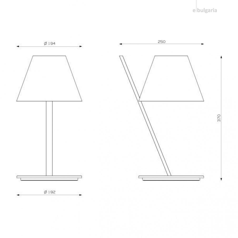метална настолна лампа, white, artemide, la petite, 1x6w, 1751020a