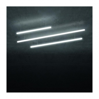 акрилен пендел, white, artemide, alphabet of light linear 240 suspension, led 14w, 3000k, 2334lm, 1208000a