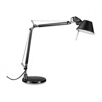метална работна лампа, black, artemide, tolomeo table, 1x77w, a004430