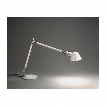 метална работна лампа, white, artemide, tolomeo table, 1x77w, a004420
