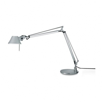 метална работна лампа, aluminium, artemide, tolomeo mini table, 1x77w, a005910