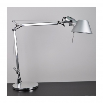 метална работна лампа, aluminium, artemide, tolomeo micro table, 1x46w, a011800