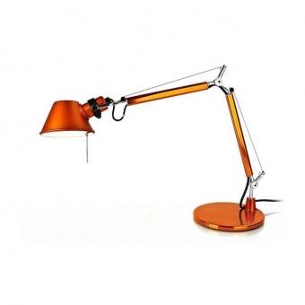 метална работна лампа, orange, artemide, tolomeo micro table, 1x46w, a011860