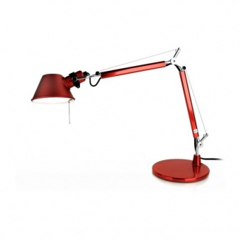 метална работна лампа, red, artemide, tolomeo micro table, 1x46w, a011810