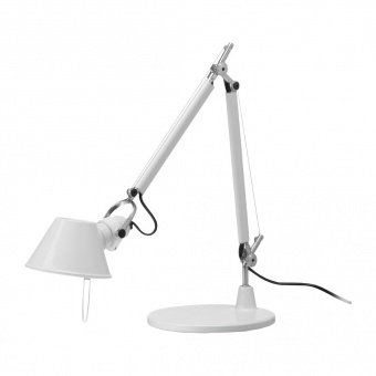 метална работна лампа, white, artemide, tolomeo micro table, 1x46w, 0011820a