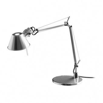 метална работна лампа, mirror, artemide, tolomeo micro table, 1x46w, a001300