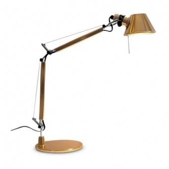 метална работна лампа, gold, artemide, tolomeo micro table, 1x46w, 0011860a