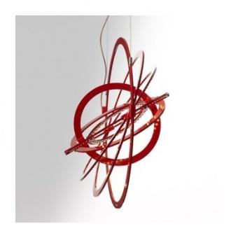 метален пендел, red, artemide, copernico 500, led 27w, 3000k, 2375lm, 1608040a