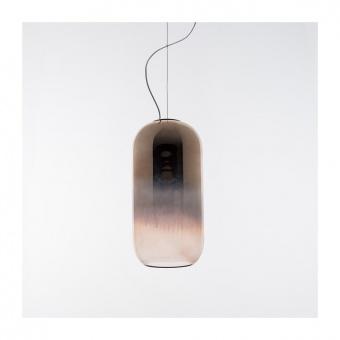 стъклен пендел, copper, artemide, gople lamp, 1x20w, 1405040a
