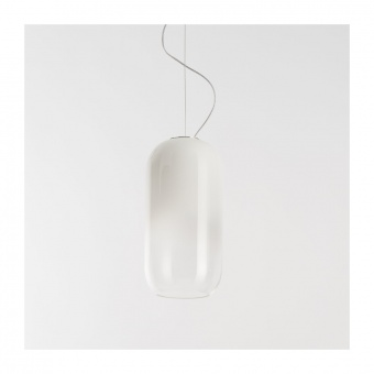 стъклен пендел, white, artemide, gople lamp, 1x20w, 1405020a
