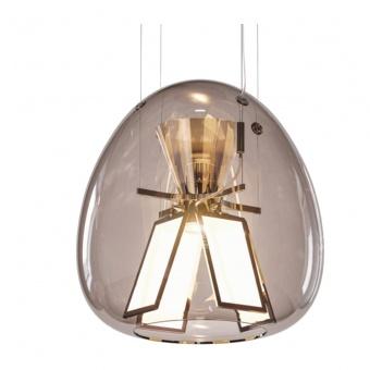 стъклен пендел, transparent, artemide, harry h. oled, led 1x37w+1x21w,1500lm + 3000lm, 4000k+2700k, 1841010a