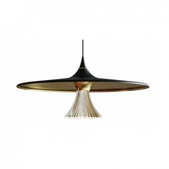 метален пендел,  black/gold, artemide, ipno suspension, 1x21w, 3000k, 1786lm, 1846030a