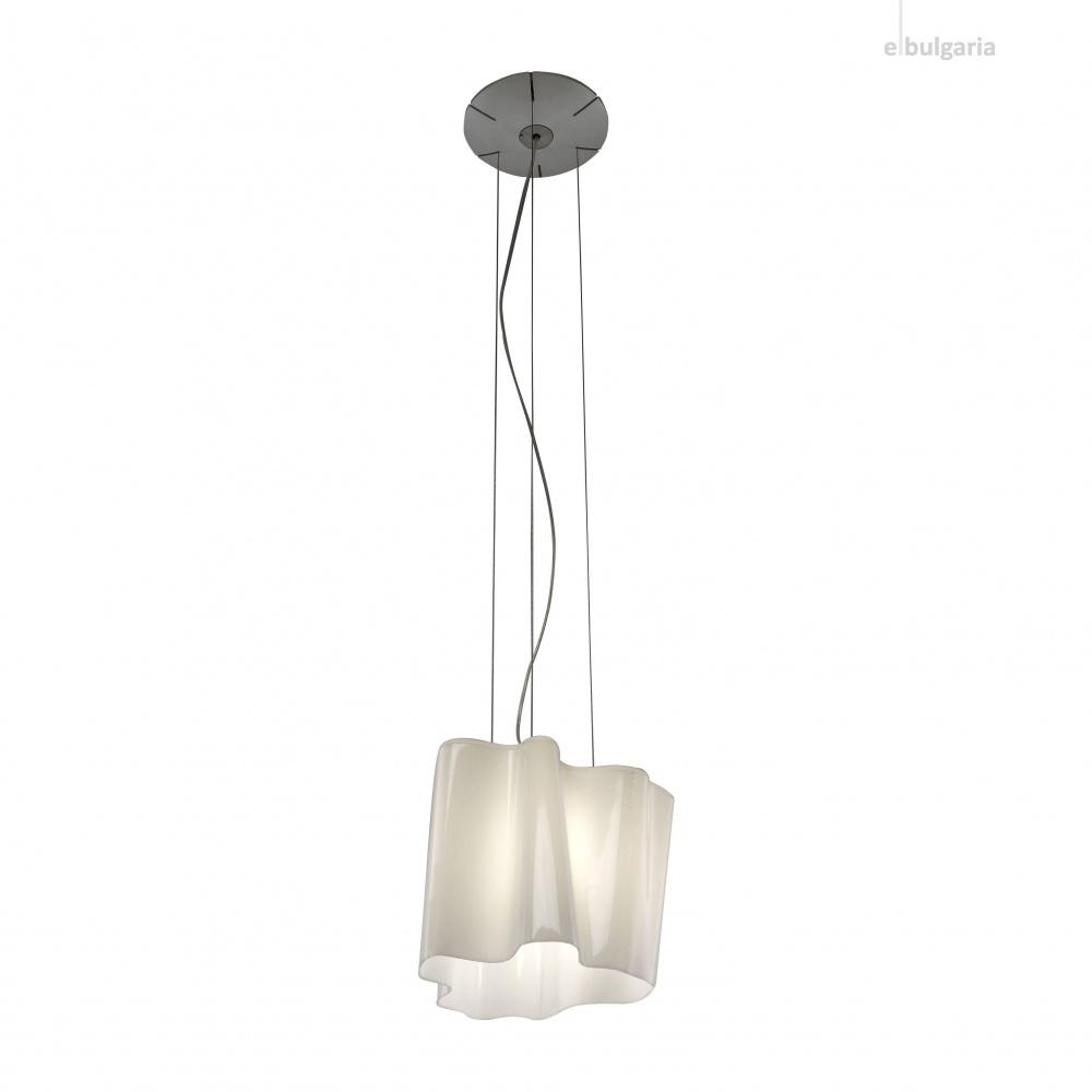 стъклен пендел, white, artemide, logico mini suspension, 1x77w,  0696020a