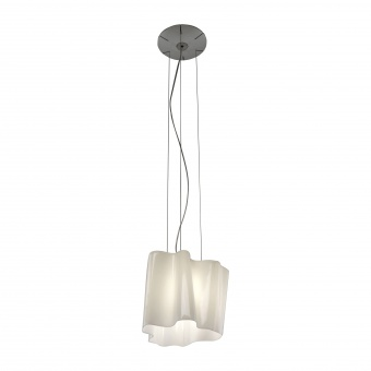 стъклен пендел, white, artemide, logico mini suspension, 1x77w,  0696020a