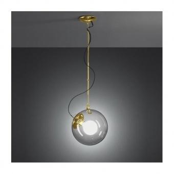 стъклен пендел, satin brass, artemide, miconos suspension, 1x23w, a031010