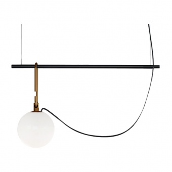 стъклен пендел, black/brass, artemide, nh S1 22, 1x15w, 1273010a
