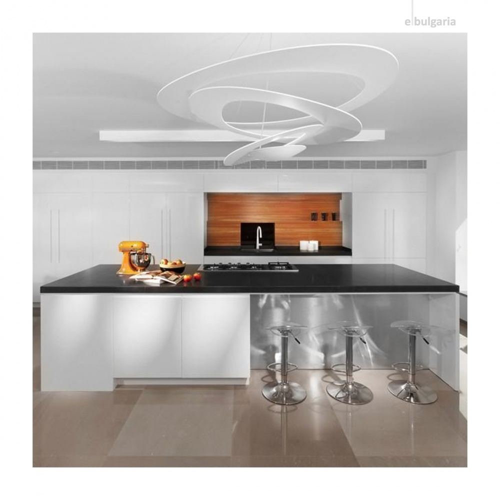 метален пендел, white, artemide, pirce suspension, led 1x44w, 3000k, 4230lm, 1254110a