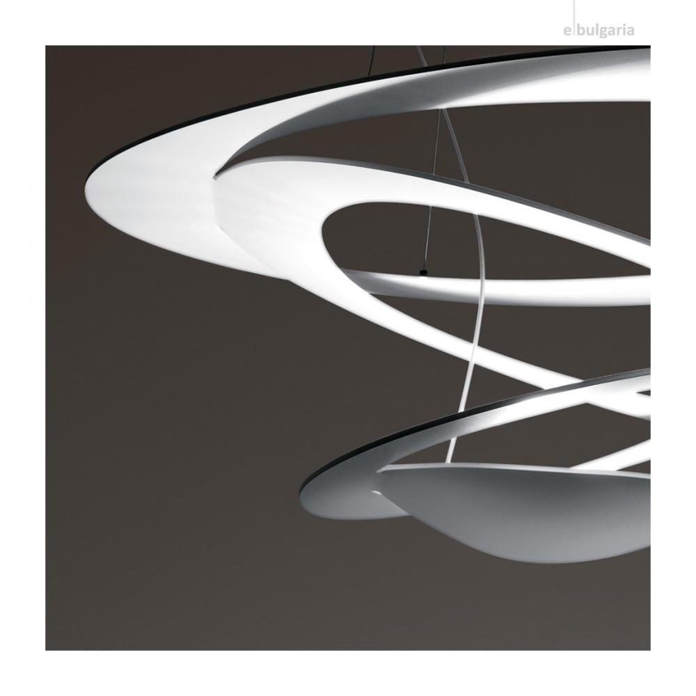 pvc пендел, trasparent, artemide, pirce micro suspension, led 1x27w, 3000k, 3200lm, 1249010a