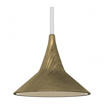 метален пендел,  brass, artemide, unterlinden suspension, led 1x6.2, 2700k, 570lm, 1936w10a