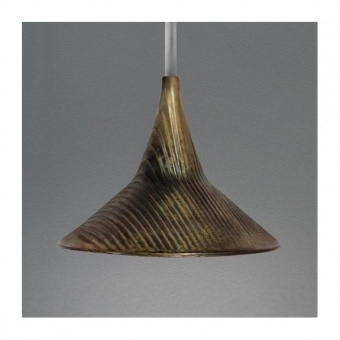 метален пендел,  brass, artemide, unterlinden suspension, led 1x6.2, 3000k, 584lm, 1936010a