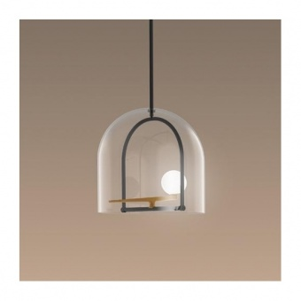 метален пендел, brass, artemide, yanzi suspension, led 1x7.8w, 3000k, 841lm, 1103010a