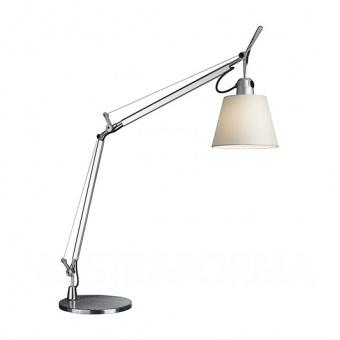текстилна работна лампа, grey, artemide, tolomeo basculante, 1x46w, 0947020a