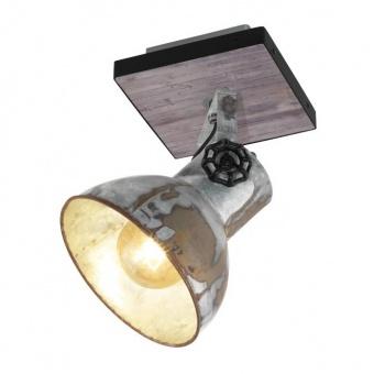 метален спот, brown-patina, eglo, barnstaple, 1x40w, 49648