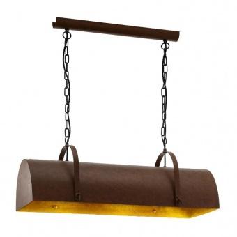 метален полилей, brown, eglo, deerhurst, 3x60w, 49702