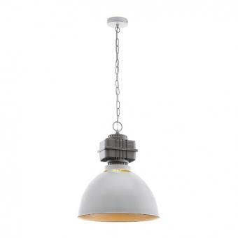метален пендел, grey, eglo, rockingham, 1x60w, 49868