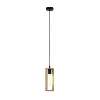 дървен пендел, black, eglo, littleton, 1x60w, 49473
