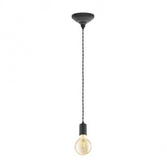 метален пендел, black, eglo, yorth, 1x60w, 32536