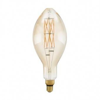 led лампа 8w, е27, топла светлина, eglo, big size, 2100k, 806lm, 11685