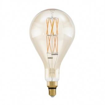led лампа 8w, е27, топла светлина, eglo, big size, 2100k, 806lm, 11686