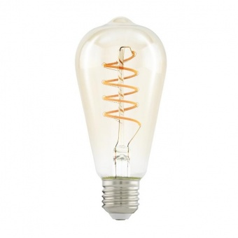 led лампа 4w, е27, топла светлина, eglo, spiral, 2200k, 260lm, 11681