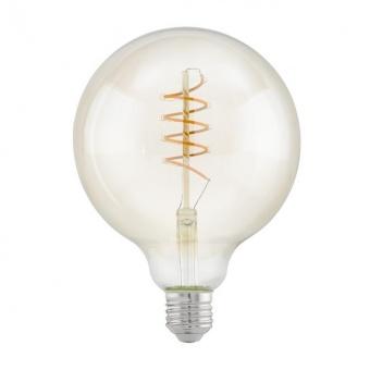 led лампа 4w, е27, топла светлина, eglo, spiral, 2200k, 260lm, 11683