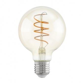 led лампа 4w, е27, топла светлина, eglo, spiral, 2200k, 260lm, 11722